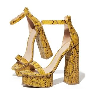 Wild Diva Shoes - NEW🔥Open Toe Sky High Chunky Heel Platform Sandal